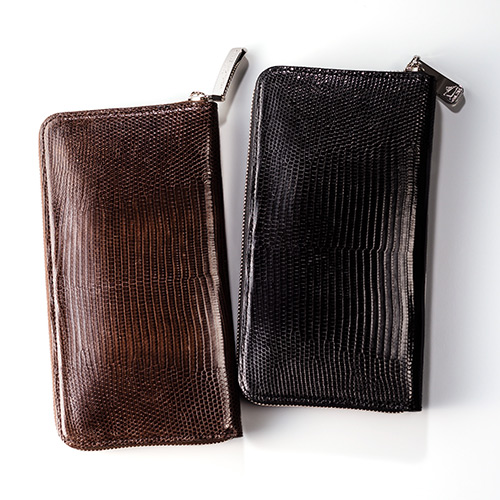 【PELLE MORBIDA】Barca/Zip Wallet(Large)-RING LIZARD-