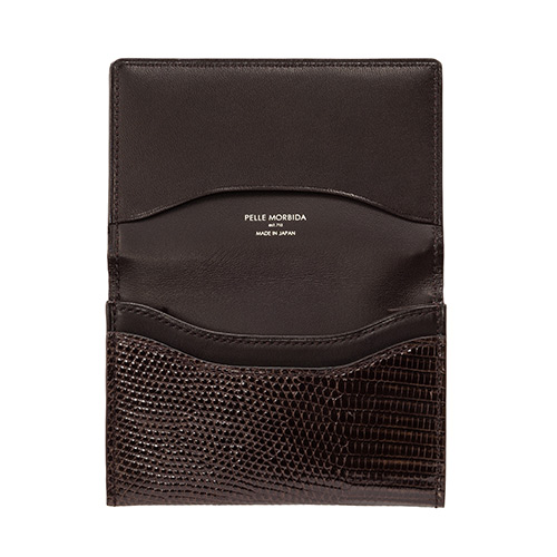【PELLE MORBIDA】Barca Card Case【RING LIZARD】