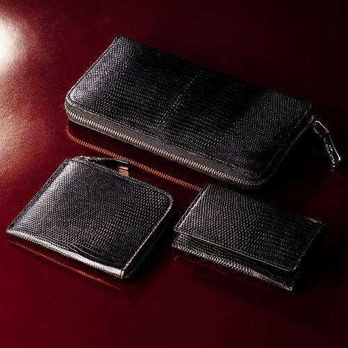 【PELLE MORBIDA】Barca/Card Case RING LIZARD