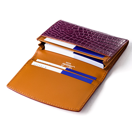 【Kiichi】Alike クロコ型押しカードケース