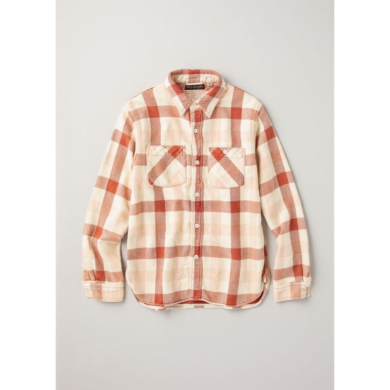 "Original Check Flannel E-Flow Wash ""Browne【残り僅か!】"