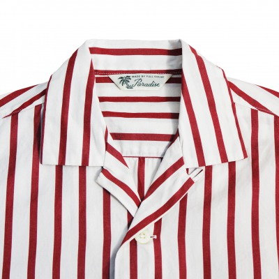 Stripe Open Collar Shirt[新発売!]