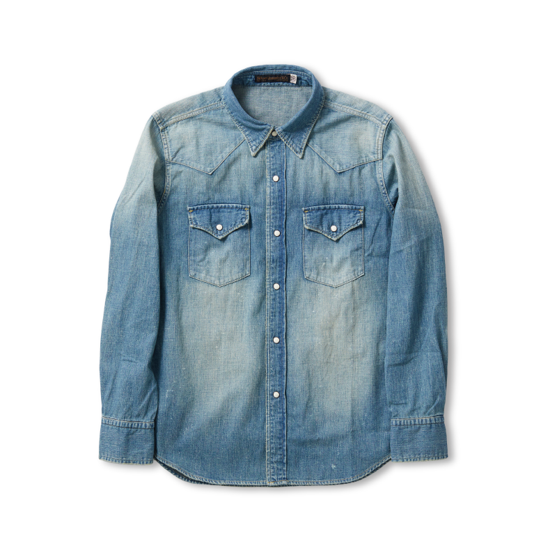 Denim Western Shirt -Hand Wash-【予約ページ】