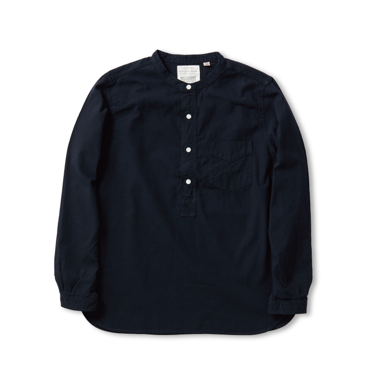 Stand Collar Chambray Shirt