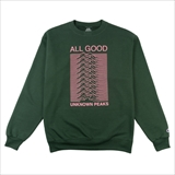 [オールグッド]ALL GOOD Unknown Peaks Crewnecks Dark Green