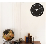 [ブリッド]BLACK WOOD FRAME CLOCK Φ35cm