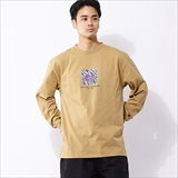 [キャンプセブン]SQUARE LOGO PRINT LONG SLEEVE
