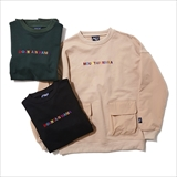 "[マウンテンマニア]FRONT POCKET CREW NECK ""COLOR LOGO"""