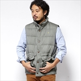 [ゴーヘンプ]SKY WAVE VEST/ H/C MINI HERRINGBONE