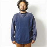 [ゴーウエスト]LOOSE CREW NECK/9oz COTTON FLEECE -USED WASH-