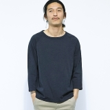 [ゴーウエスト]RAGLAN 3/4 SLEEVE TEE / 14/1 HEAVY WEIGHT JERSEY