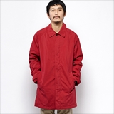 [ゴーウエスト]NO COLLAR INNER COAT/ C/N GABARDINE PEACH BAIO