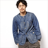 [ゴーウエスト]NO COLLAR WORK JACKET/8oz WORK DENIM/USED WASH