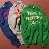 [ゴーウエスト]GRATEFUL DAY CREW KNIT/SOUVENIR SERIES