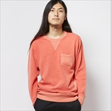 [ヘルスニット]Pig-Dye Back Fleece Crew L/S