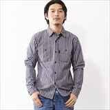 [ローター]Hickory herringbone work shirt