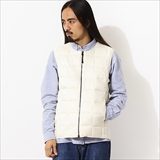 [タイオン]CREW NECK W-ZIP DOWN VEST