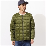 [タイオン]CREW NECK W-ZIP DOWN JKT