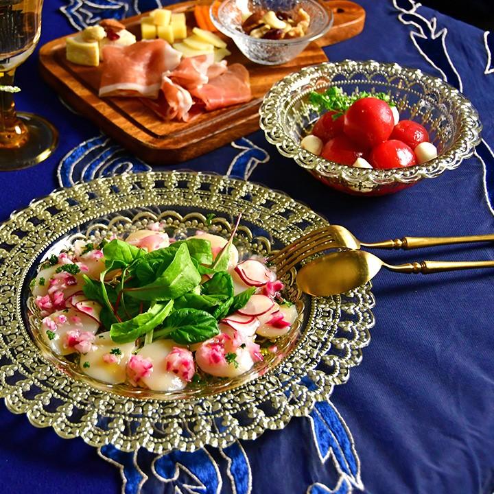【ストアスタッフブログ】ガラス食器を使った夏のお料理の素敵な盛り付け