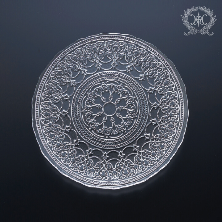 アラベスクガラスプレートMセット/23cm