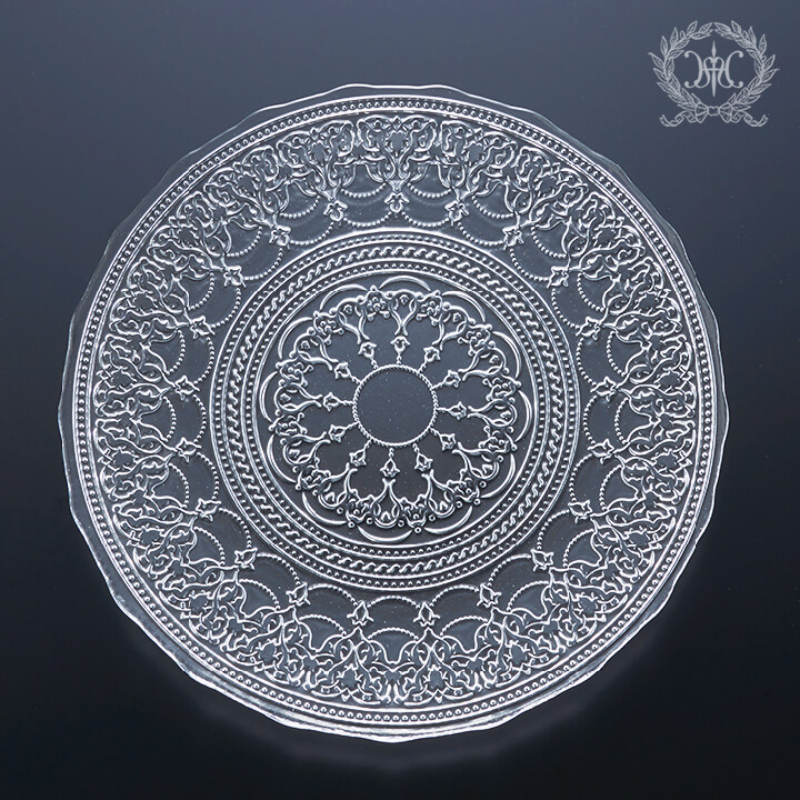 アラベスクガラスプレートL/28cm