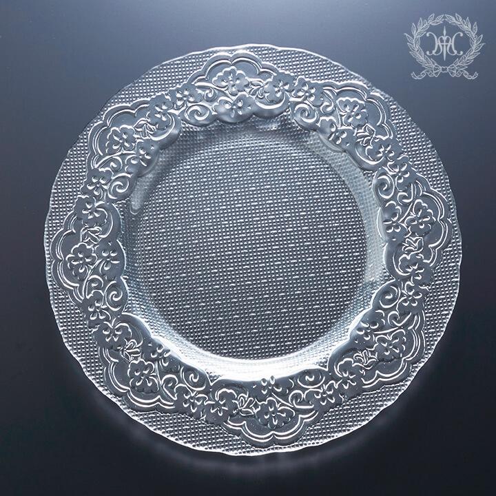オフィーリアガラスプレートL 28cm