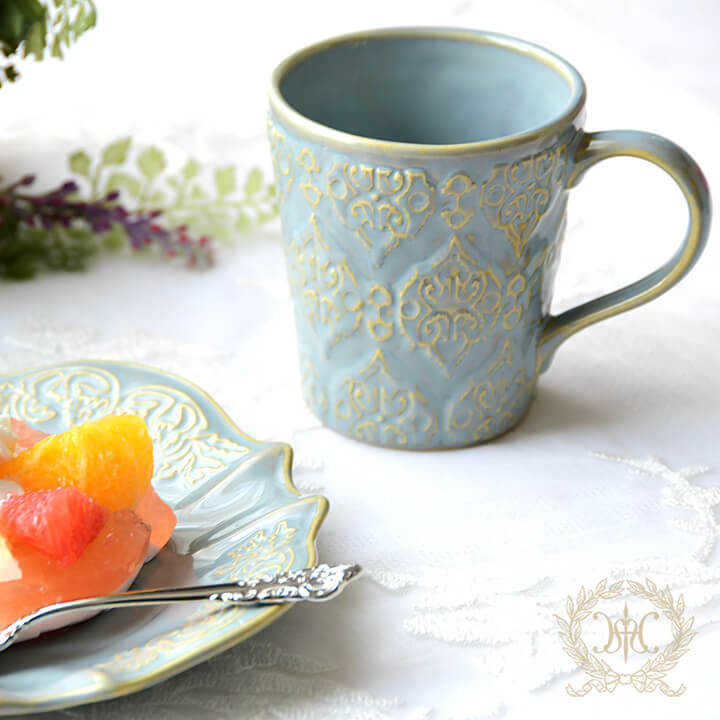 トリアノンマグカップ/ブルー
