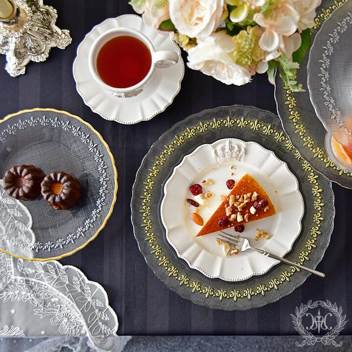 ガラス食器を使ったおうちレストラン風テーブルコーディネートをご紹介します♪