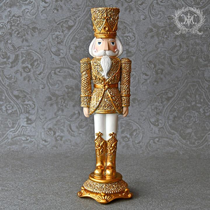 ゴールドハットナッツクラッカーオブジェ