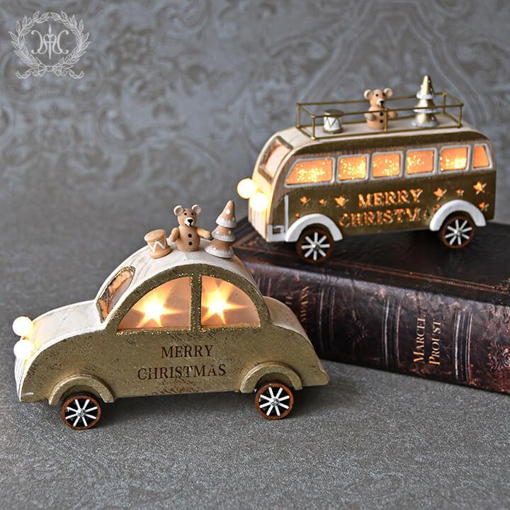 ウッドLEDカー&バス/ゴールド