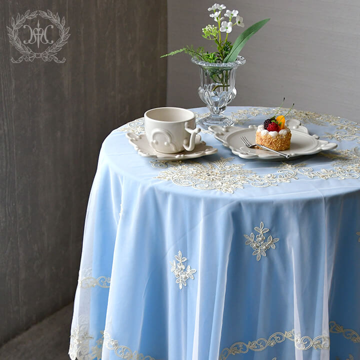 テーブルクロスフローラルブーケ 150x150cm