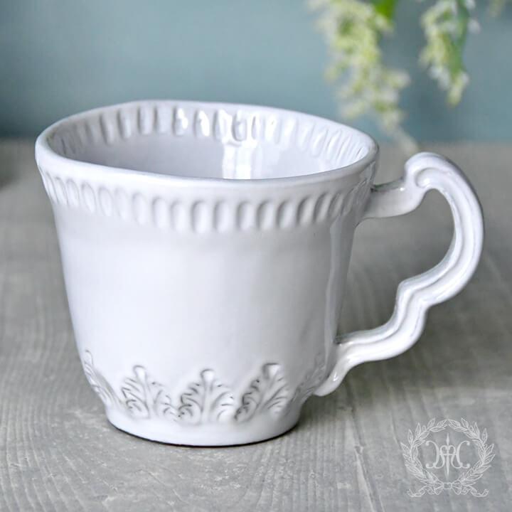ホワイトリーフマグカップ