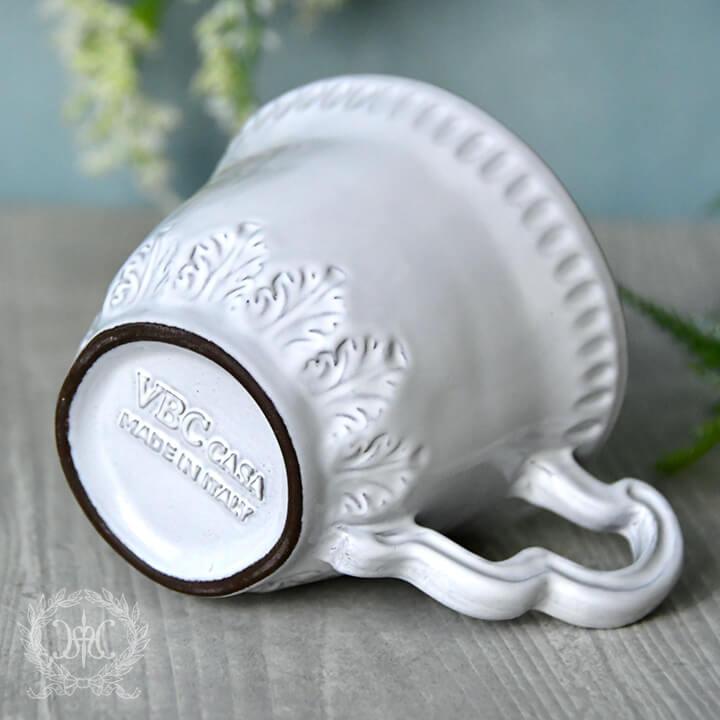 ラ・セラミカ ホワイトリーフマグカップ