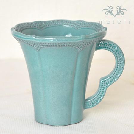ブルーレースマグカップ