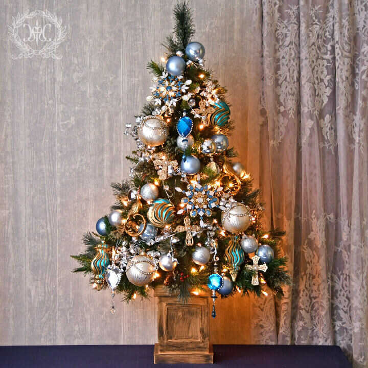 【Web store限定】クリスマスツリーセット120cm/アイスジュエル