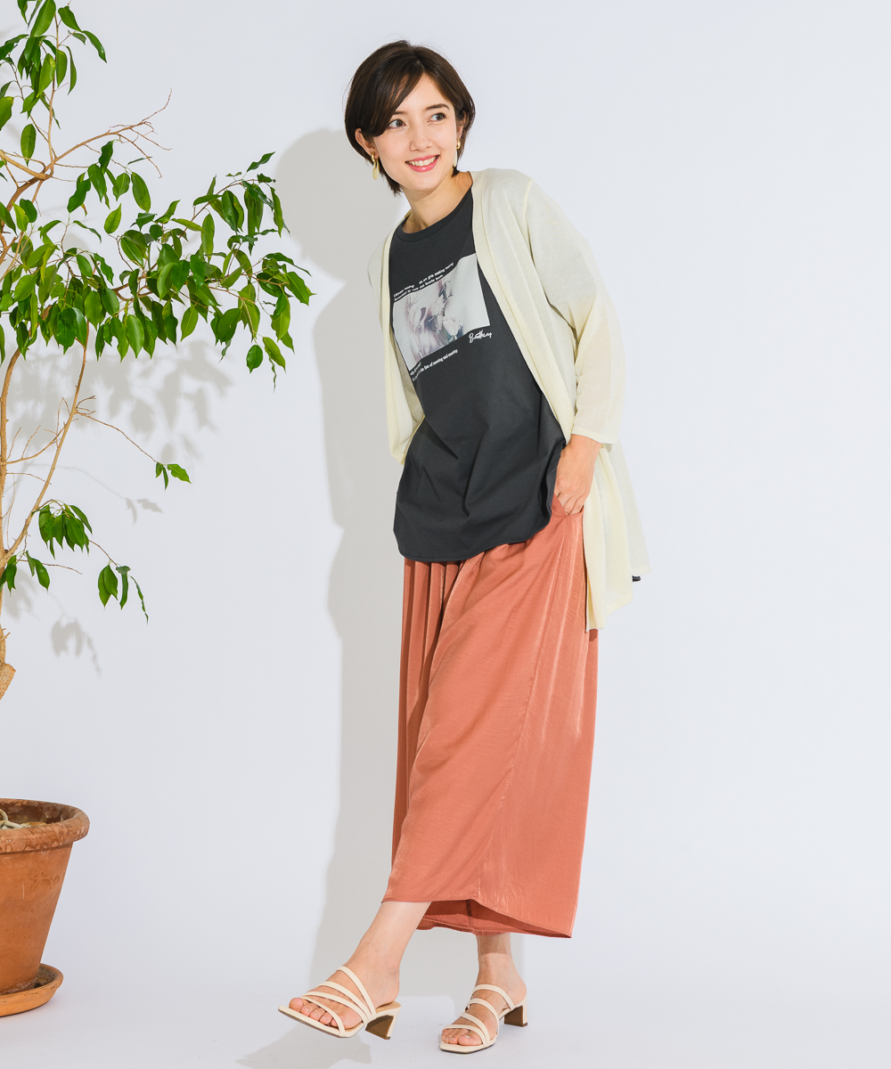 【MADE IN JAPAN】タブ付7部袖トッパー ML