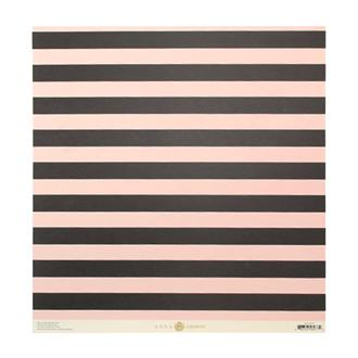 "12""JULIET STRIPE PINK & BLACK"