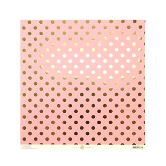 "12""JULIET DOT PINK WITH FOIL"