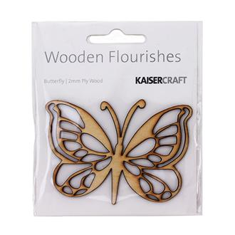 WOODEN BUTTERFLY FLOURISH
