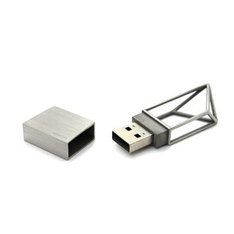 USBメモリ 8GB STRUCTURE(STAINLESS)