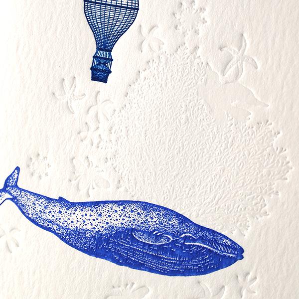 ブランクカード FS08A フォッシル(鯨) | 伊東屋オンラインストア