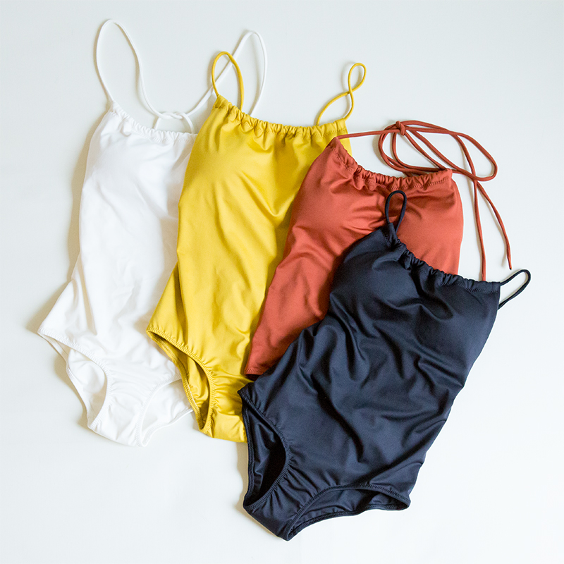 Back open basic MONOKINI(テラコッタ, FREE)