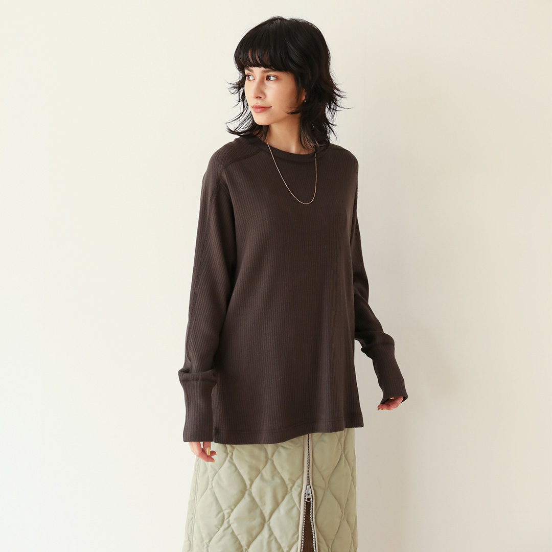 Vintage Fabric Loose Long-T(キナリ, FREE)
