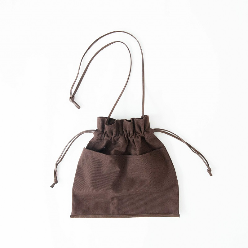 ECO LEATHER-LINE 巾着BAG(ゼブラ, onesize)