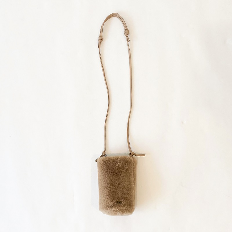 ECO FUR BOTTLE BAG(ベージュ, FREE)