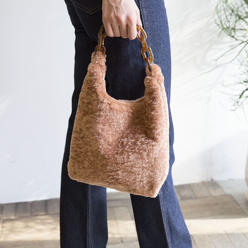 FUR CHAIN BAG