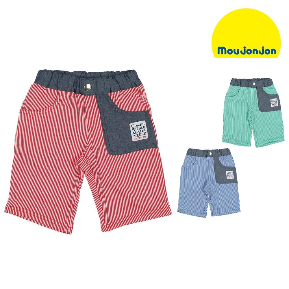 9da68f47f0e67 moujonjon (ムージョンジョン) ニットピケ6分丈パンツ 80cm~140cm M31128