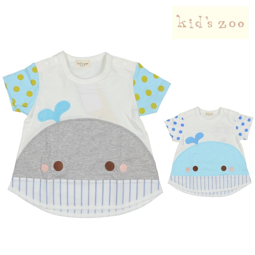56499367d2560 kids zoo (キッズズー) くじらTシャツ 70cm~95cm W30806