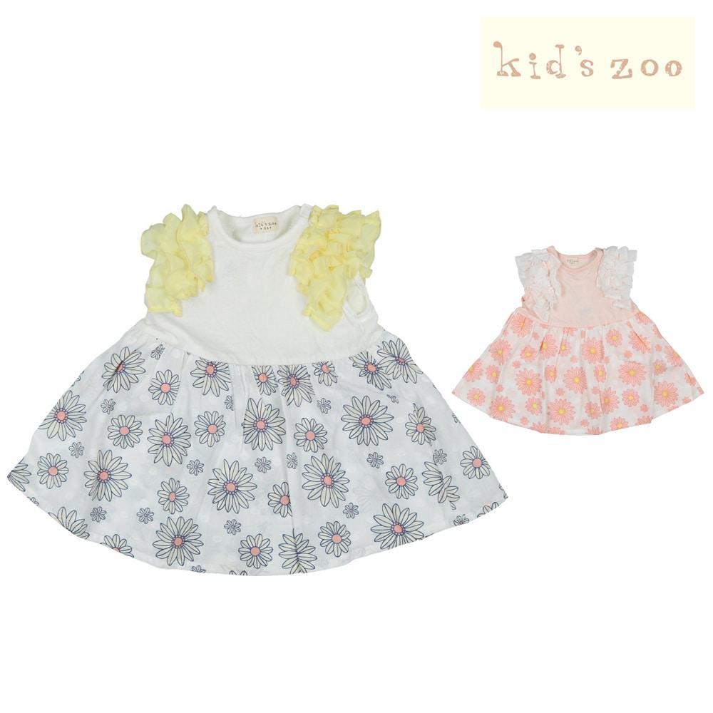526a7974add7d kids zoo (キッズズー) 花柄ワンピース 70cm~95cm W40301