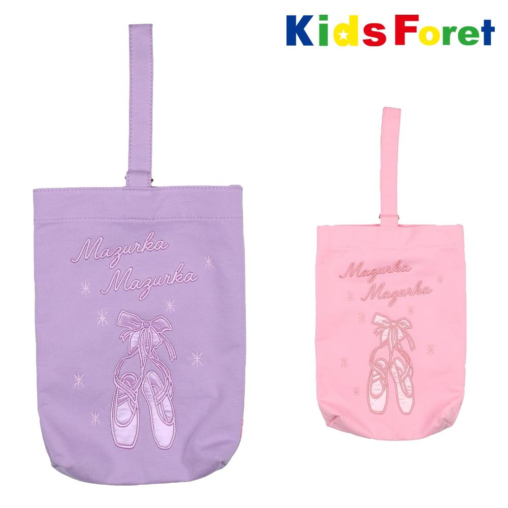 ce2d8cdbc4b63 Kids Foret (キッズフォーレ) バレエスウェットシューズケース・バッグ FREE B11684